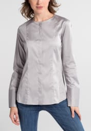 ETERNA LONG SLEEVE BLOUSE MODERN CLASSIC SLIM FIT SILVER GRAY UNI