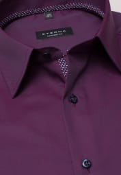 ETERNA LONG SLEEVE SHIRT COMFORT FIT PINPOINT BERRIES RED UNI
