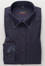 ETERNA LONG SLEEVE SHIRT MODERN FIT PINPOINT NAVY BLUE UNI