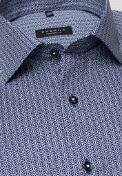 ETERNA LONG SLEEVE SHIRT COMFORT FIT PINPOINT NAVY PRINTED