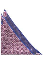 ETERNA POCKET SQUARE RED-BLUE PRINTED