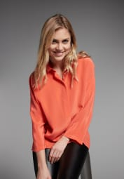 LONG SLEEVE BLOUSE 1863 BY ETERNA - PREMIUM ORANGE UNI