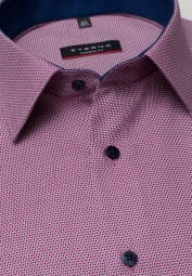 ETERNA HALF SLEEVE SHIRT MODERN FIT BERRY RED STRUCTURED
