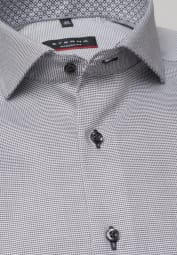 ETERNA LONG SLEEVE SHIRT MODERN FIT ANTHRACITE / WHITE