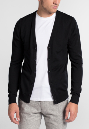 ETERNA KNIT CARDIGAN BLACK UNI