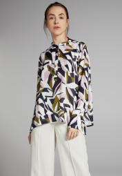 LONG SLEEVE BLOUSE 1863 BY ETERNA - PREMIUM NAVY / OLIVE / LILAC