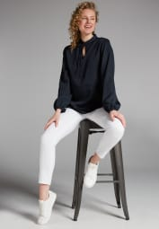 LONG SLEEVE BLOUSE 1863 BY ETERNA - PREMIUM NAVY BLUE UNI