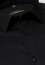 ETERNA LONG SLEEVE SHIRT SUPER-SLIM BLACK UNI