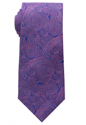 ETERNA TIE ROYAL BLUE/PINK PATTERNED