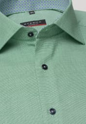 ETERNA LONG SLEEVE SHIRT MODERN FIT GREEN/WHITE