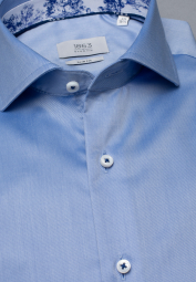 ETERNA LONG SLEEVE SHIRT SLIM FIT GENTLE SHIRT LIGHT BLUE UNI