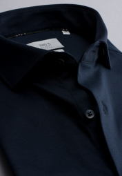 ETERNA LONG SLEEVE SHIRT MODERN FIT SOFT TAILORING JERSEY NAVY BLUE UNI