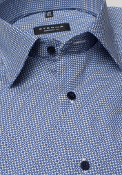 ETERNA HALF SLEEVE SHIRT COMFORT FIT POPLIN BLUE/WHITE PRINTED