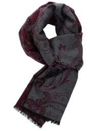 ETERNA SCARF BORDEAUX/GREY STRUCTURED