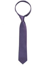 ETERNA TIE BORDEAUX CHECKED