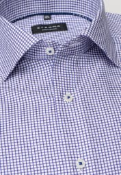 ETERNA LONG SLEEVE SHIRT COMFORT FIT TWILL RED/BLUE CHECKED