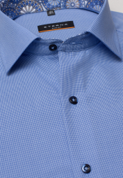 ETERNA LONG SLEEVE SHIRT SLIM FIT BLUE UNI
