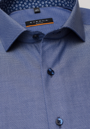 ETERNA LONG SLEEVE SHIRT SLIM FIT BLUE STRUCTURED