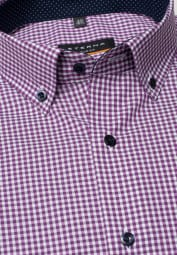 ETERNA LONG SLEEVE SHIRT SLIM FIT POPLIN ORCHID/WHITE CHECKED