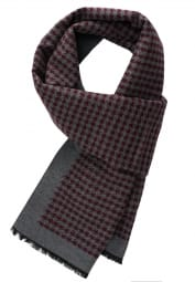 ETERNA SCARF BURGUNDY / LIGHT GRAY PATTERNED