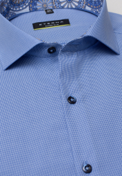 ETERNA LONG SLEEVE SHIRT SUPER-SLIM BLUE UNI