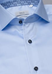 ETERNA LONG SLEEVE SHIRT SLIM FIT GENTLE SHIRT TWILL LIGHT BLUE UNI