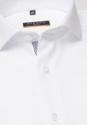 ETERNA LONG SLEEVE SHIRT SLIM FIT STRETCH WHITE STRUCTURED