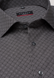 ETERNA LONG SLEEVE SHIRT MODERN FIT POPLIN BLACK PRINTED