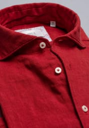ETERNA LONG SLEEVE SHIRT MODERN FIT SOFT TAILORING LINEN RED UNI