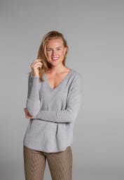 ETERNA KNIT SWEATER WITH V-NECK GRAY UNI