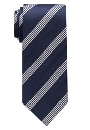 ETERNA TIE NAVY BLUE / SILVER GRAY STRIPED