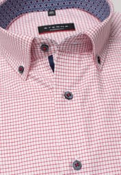 ETERNA HALF SLEEVE SHIRT MODERN FIT TWILL RED/WHITE CHECKED
