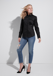 ETERNA LONG SLEEVE BLOUSE MODERN CLASSIC BLACK UNI