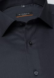 ETERNA LONG SLEEVE SHIRT SLIM FIT FANCY WEAVE ANTHRACITE STRUCTURED