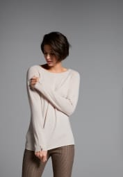 ETERNA KNIT SWEATER WITH ROUND NECK BEIGE UNI
