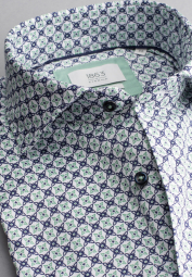 ETERNA LONG SLEEVE SHIRT COMFORT FIT SOFT TAILORING MINT / BLUE