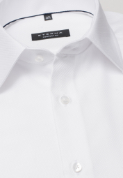 ETERNA LONG SLEEVE SHIRT COMFORT FIT FANCY WEAVE WHITE STRUCTURED