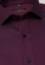 ETERNA LONG SLEEVE SHIRT SLIM FIT BORDEAUX