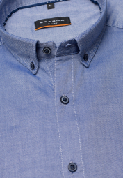 ETERNA HALF SLEEVE SHIRT SLIM FIT OXFORD JEANS BLUE UNI