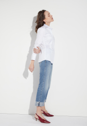 ETERNA LONG SLEEVE BLOUSE SLIM FIT WHITE UNI