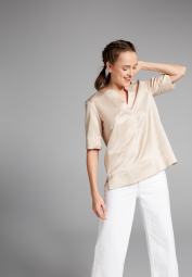 HALF SLEEVE BLOUSE 1863 BY ETERNA - PREMIUM BEIGE UNI