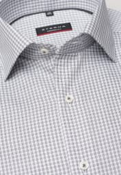 ETERNA LONG SLEEVE SHIRT MODERN FIT PINPOINT GREY CHECKED