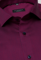 ETERNA LONG SLEEVE SHIRT COMFORT FIT BURGUNDY STRUCTURED