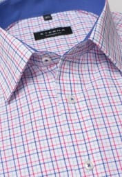 ETERNA LONG SLEEVE SHIRT COMFORT FIT POPLIN RED/BLUE CHECKED