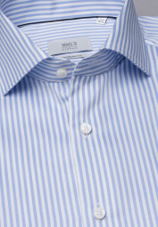 ETERNA LONG SLEEVE SHIRT MODERN FIT LIGHT BLUE / WHITE STRIPED