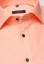 ETERNA HALF SLEEVE SHIRT COMFORT FIT ORANGE STRUCTURED
