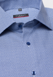 ETERNA LONG SLEEVE SHIRT MODERN FIT PINPOINT BLUE PRINTED