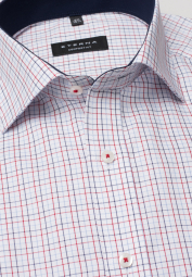 ETERNA HALF SLEEVE SHIRT COMFORT FIT OXFORD RED/BLUE CHECKED