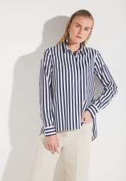ETERNA LONG SLEEVE BLOUSE MODERN CLASSIC NAVY / WHITE
