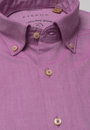 ETERNA LONG SLEEVE SHIRT REGULAR FIT UPCYCLING SHIRT FUCHSIA UNI